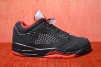 WORN 2X Nike Air Jordan 5 V Retro Low Alternate 90 Black Red Size 10 819171 001