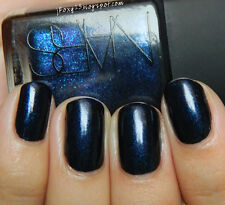 NEW! NARS Nail Polish Lacquer in NIGHT FLIGHT ~ Black with cobalt blue pearls