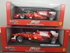SET OF 2 2010 F10 FORMULA 1 F1 FERRARI ALONSO + MASSA 2010 1/18 T6287 + T6288