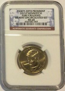NGC MS68 2015-P Kennedy Presidential Dollar $1 Early Releases