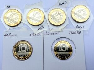 FDC : 6 x 10 francs Génie 1991BE-1998-1999-2000-2001-2001BE
