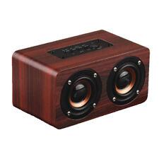 10W Bluetooth Speaker Super Bass Loud Wood Audio Wireless Speakers Subwoofer