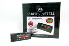 FABER-CASTELL Color Pencil Erasers Black Art Painting Drawing Erazers PVC-FREE