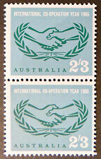 1965 Australian Pre Decimal Stamps:International Co-operation Year - Double MNH