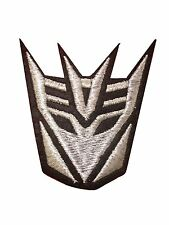 Sliver transformer decepticon Embroidered Iron On / Sew On Patch