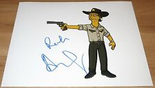 Andrew Lincoln Signed Simpsons 11x14 Walking Dead w/Character Name Exact Proof