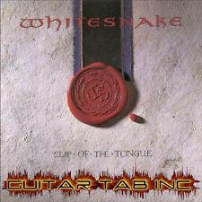 Whitesnake Guitar & Bass Tab SLIP OF THE TONGUE Lessons on Disc