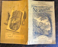 MANUEL ILLUSTRE MACHINE A COUDRE NEWHOME, 1892, GUIDES ET ACCESSOIRES