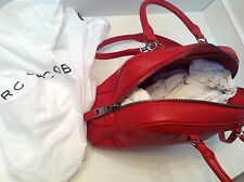 100% Authentic MARC JACOBS Venetia LRG Red Leather Shoulder Bag Satchel - $1600+
