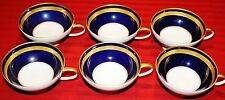 Rosenthal Continental EMINENCE COBALT BLUE Footed Cup - SET of 6