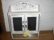 Retreat Home White Heart Blackboard with drawer Cupboard