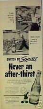 1953 Squirt Soda-Pop Bottle Lawn Mower Grass Cutting AD