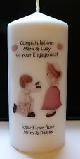 personalised engagement candle proposal present keepsake gift