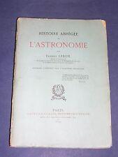 Astronomie Histoire de l'astronomie par Ernest Lebon 1899 Etude illustrée