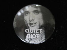 Quiet Riot-Kevin DuBrow-Rock-Pin Badge Button-80's Vintage-Rare