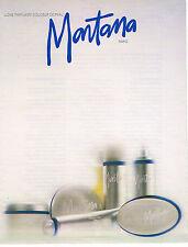 PUBLICITE ADVERTISING 074  1988  MONTANA  ligne parfumée douceur de la peau