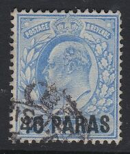 1902-05 EDVII 40 PARAS OVPT ON 21/2d BLUE (SG8/230) FINE USED