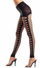 Kaleidoscope Net Footless Tights Cut Out Pantyhose Costume Hosiery Black BW621