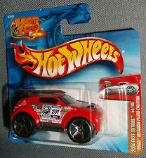 Hot Wheels 2004 #054 Tooned Mitsubishi Pajero Evolution Red Hot 100 Short Card