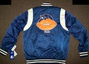 CHICAGO BEARS Throw Back STARTER Jacket  M L XL 2X 1946 BEARS BLUE & SILVER