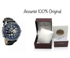 Accurist Men's Skymaster Blue Dial Black Strap Watch 7112 New With Box