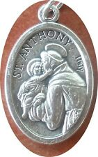 Lightweight, shiny Saint St. Anthony (of Padua) Medal + Miracle Worker