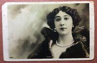 REUTRINGLER Antique Paris photo Postcard 1909s CAROLINA OTERO Belle Epoque Pearl