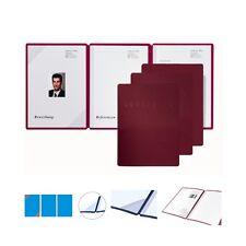Pagna Square Rot Bewerbungsmappen Premium Mappen 3-teilig 1 Bewerbungsmappe