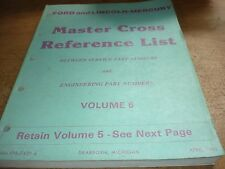 1970 - 1982 Ford Master Cross Reference Parts Manual