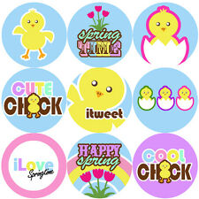144 Spring Chick 30mm Children's Reward Stickers for Teachers, Party Bags Easter