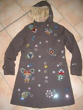 (j148) NOLITA POCKET Girls Manteau Felljacke Parka Bordure Strass Broderie gr.164