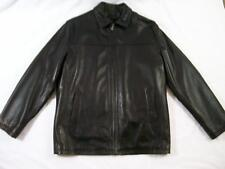 WILSON'S LEATHER Men's BOMBER JACKET + ZIP OUT Thinsulate LINING Black LARGE