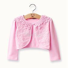 Ivory/Pink Bolero Shrug Short Cardigan for Bridesmaids/Flower Girls Formal Party