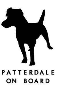 Patterdale Terrier dog on board car sticker vinyl decal - fully customisable