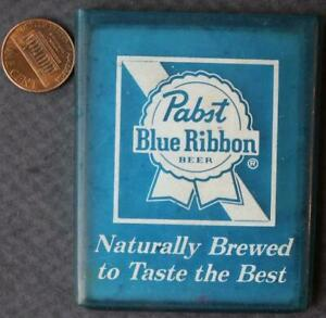 1970s Era Pabst Blue Ribbon Beer mirror in rubber cover- Naturally Brewed Best!