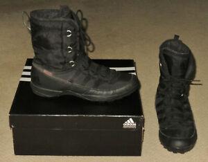 Women's Adidas CW Libria Pearl CP Winter Boots 9 Black + Box