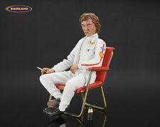 Figur / figure Jochen Rindt Lotus F1 1970 im Klappstuhl, Le Mans Miniatures 1:18