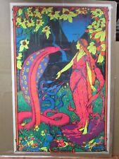 Large Vintage Black Light Poster 1971 Cobra Princess  Inv#G945