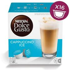 Nescafe Dolce Gusto Cappuccino Ice Coffee and Milk, 16 Pods, 8 Drinks
