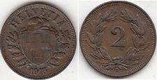Monnaie Suisse 2 rappen en bronze 1913