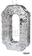 0 Zahl Pinata Silber