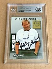 MIKE HOLMGREN SIGNED 1992 SKYBOX ROOKIE CARD BESCKEE CERTIFIED