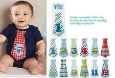 Mud Pie Birthday Boy Baby Growth Milestone Month Tie Outfit Stickers 1002005