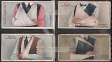 Early 1900s First Aid Splinting and Bandaging Arms Four 100+ Y/O Ad  Cards 1