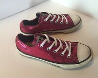 Converse Chuck Taylor All Star Ruby Red Sequined Low Top Youth Size 3 Size