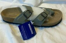 Birkenstock Arizona Men 44 285 Leather Strap Sandals Gray Size 11 Women 13 New