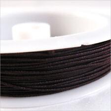 20m cordon élastique 0,6mm Marron pour bracelet de perles et couture fronces