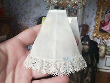 Dollhouse Miniature Artisan Janet Middlebrook Ladies Slip Skirt Blue Bow 1:12