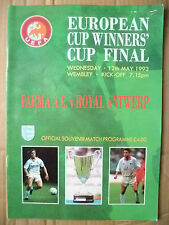 European Cup Winners Cup FINAL 1993- PARMA A. C. v ROYAL ANTWERP, 12 May(EXC*ORG
