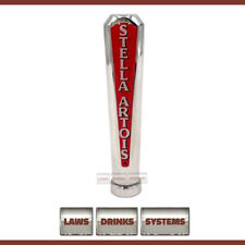 More details for stella artois branded beer tap handle - chrome, rounded top. free delivery.